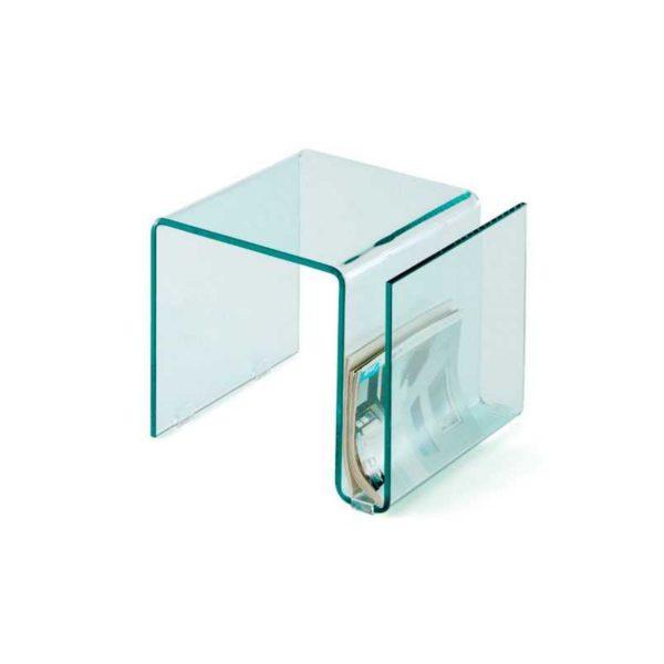 Mesa Auxiliar Cristal Glass