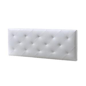 Cabecero Tapizado Eco Piel Blanco