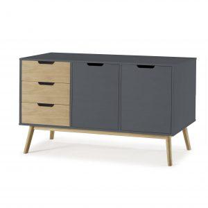 Mueble aparador lacado en Antracita | VIVAREA Nebra | Tiendas de Muebles