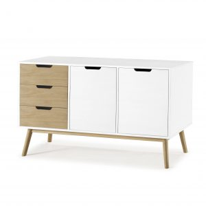 Mueble aparador lacado en blanco | VIVAREA Nebra | Tiendas de Muebles