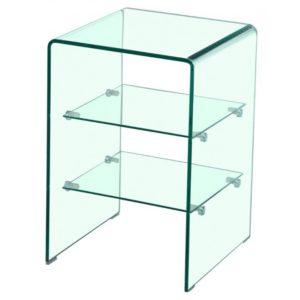 mesita auxiliar cristal glass